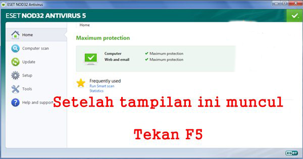 Program File/Eset/Update atau di E:/Eset-Offline-Update