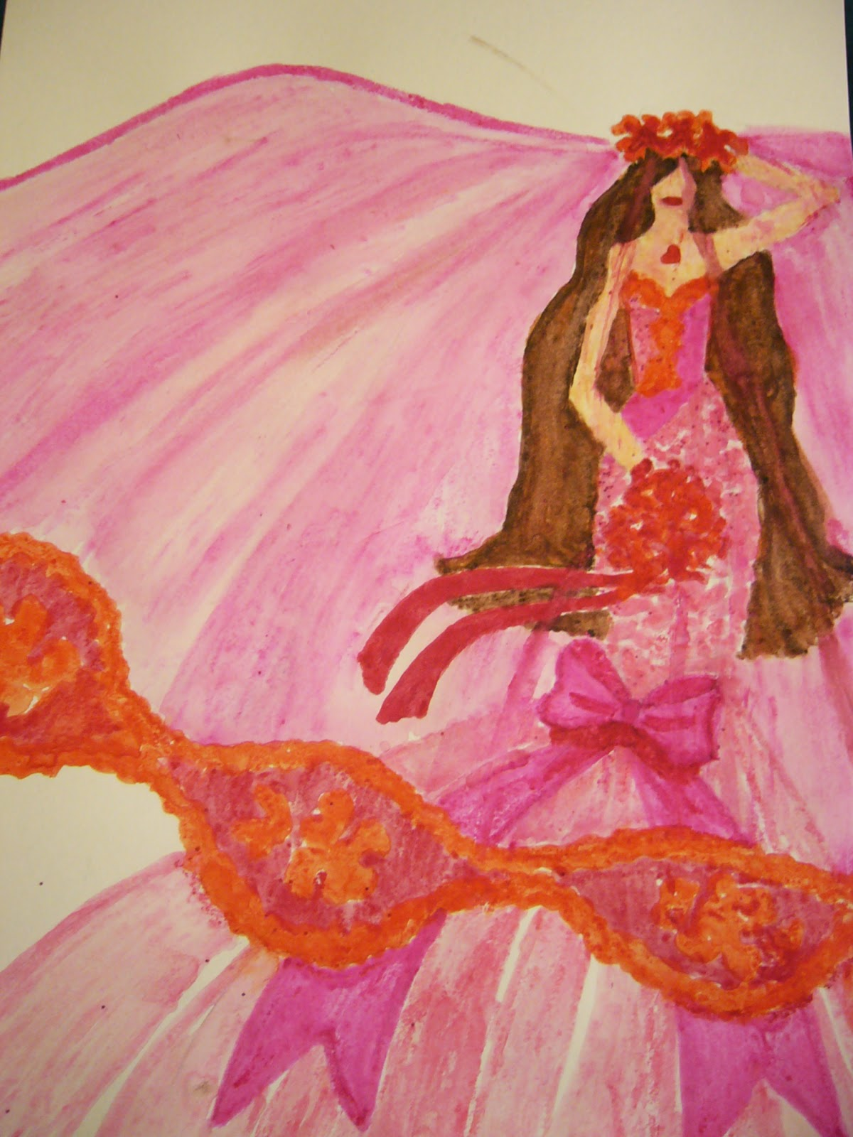 Pink Bride Watercolor