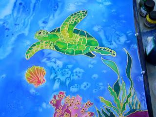 silk painting class Kauai Hawaii