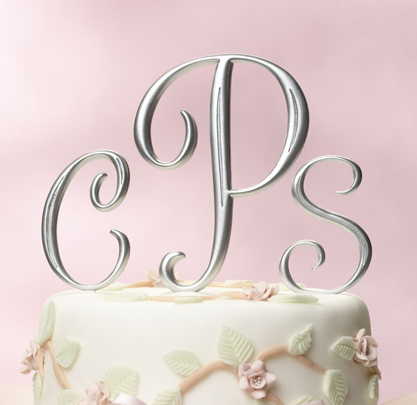 Wedding Cakes Monogram Wedding Cake Toppers
