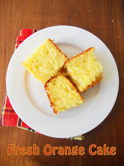 Fresh Orange Juice Pound Cake