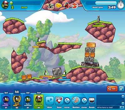 crazy penguin wars image 02 Crazy Penguin Wars, acción y juego de estrategia para Facebook