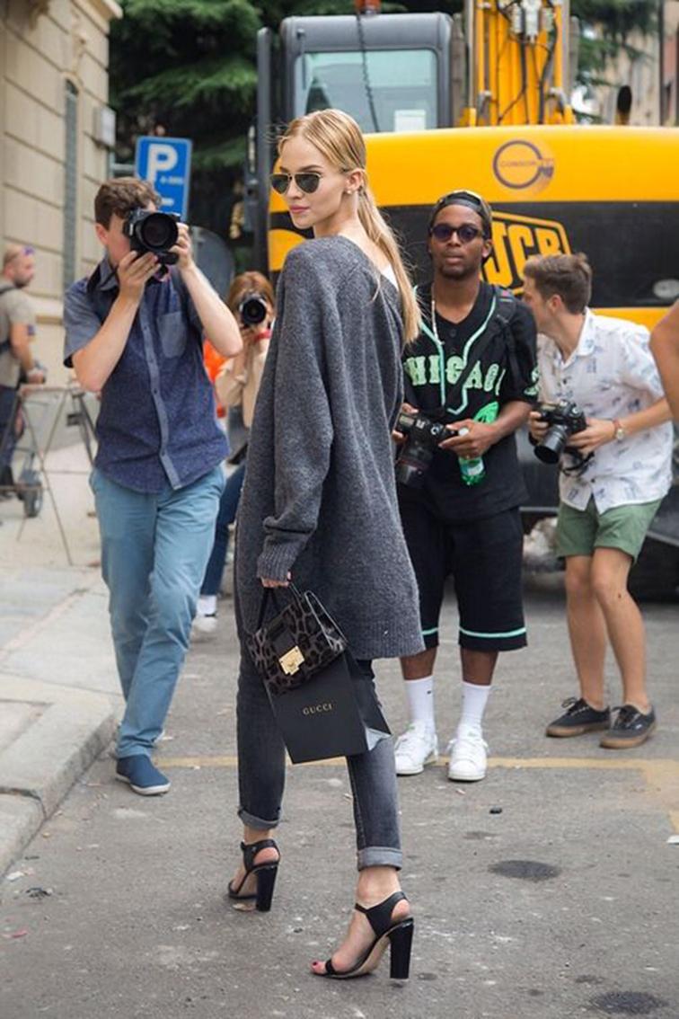 Sasha Luss street style, model off duty