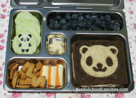 Panda lunch, CuteZCute, bento school lunches