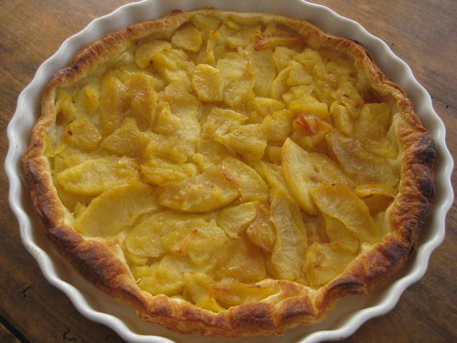 La cuisine de nanette tarte aux pommes caram lis es - Feuillete aux pommes caramelisees ...