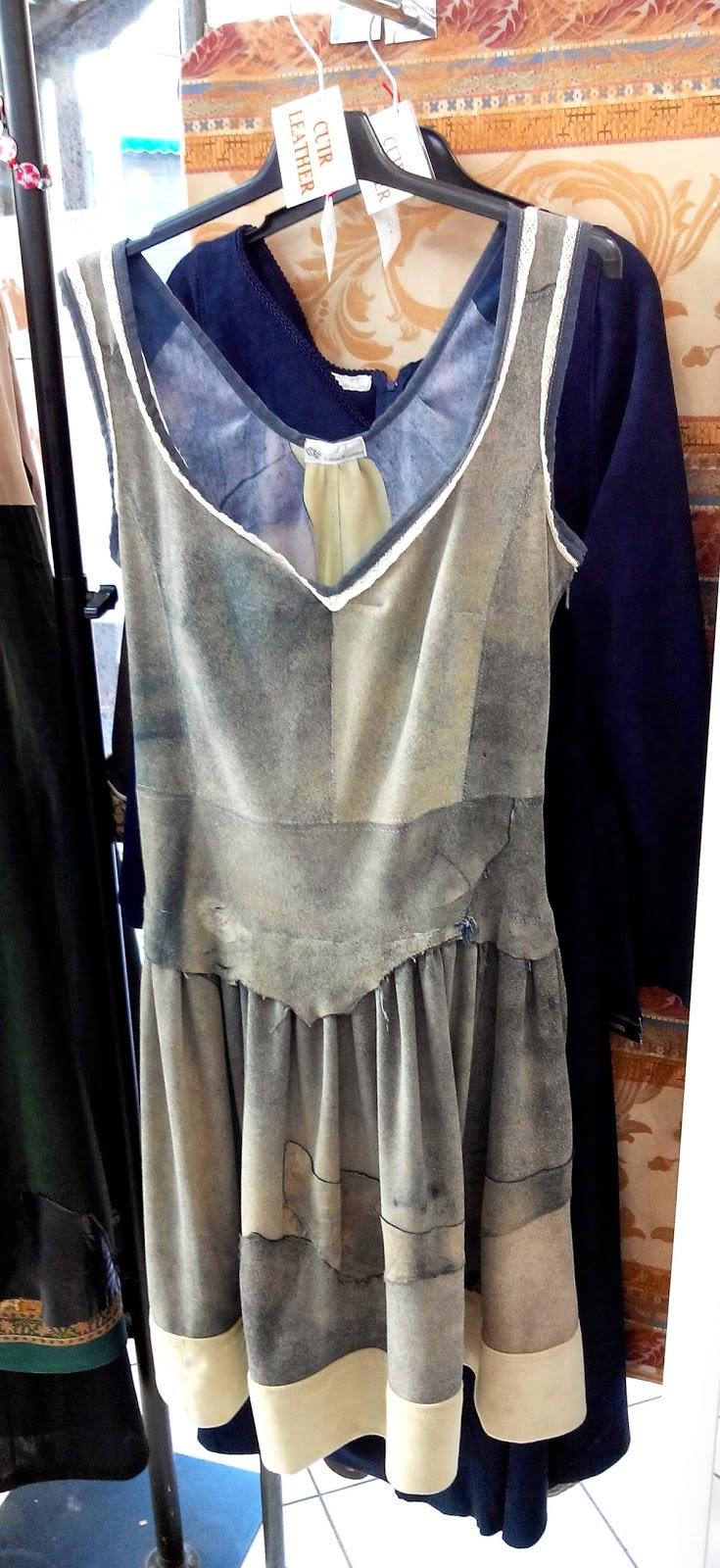 robe, cuir, Ludmila, création, mode, Agde