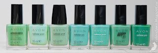 Avon Don't Be Jaded Avon Ocean Blue Avon Sea Breeze Avon Aqua Fantasy Avon Serene Avon Turquoise Pop Avon Peppermint Leaf