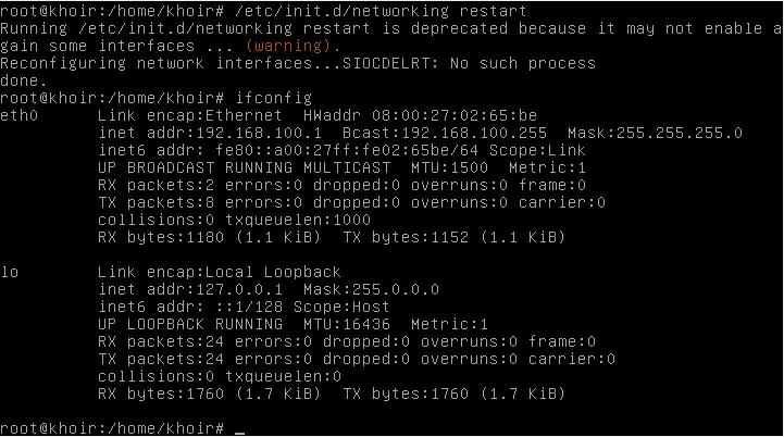 Tutorial Cara Setting IP di Debian 6 Mudah Dengan Gambar Terbaru