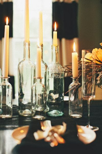 velas en botellas
