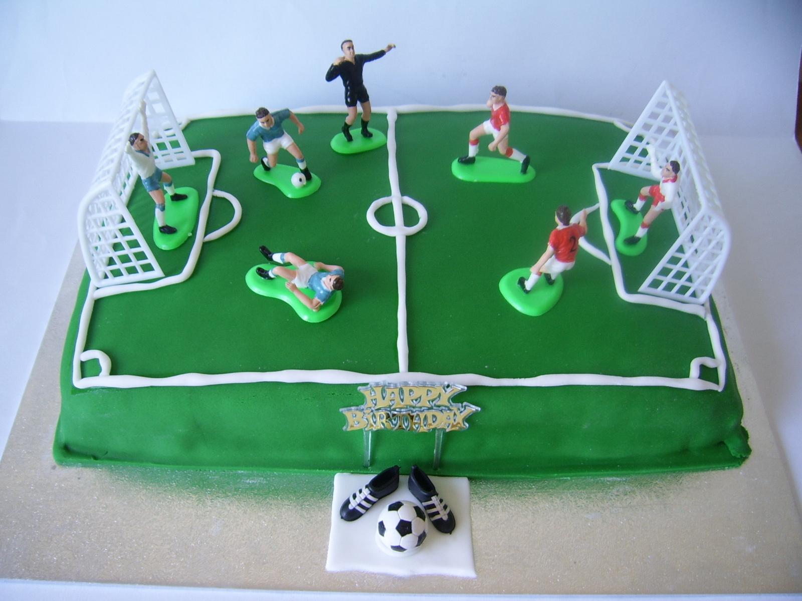Irenafoods Football Pitch Cake Tort Teren De Fotbal