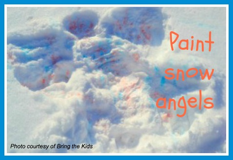 Paint snow angels