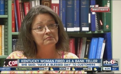 Bank Teller Claims She was Fired Over Telling Customers to 'Have a Blessed Day'