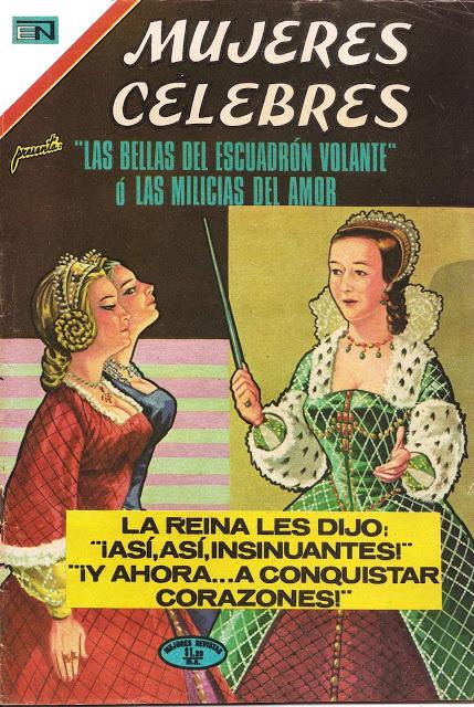 Mujeres Célebres: Nº 129 Las bellas del escuadrón volante o las milicias del amor. Escaneo original