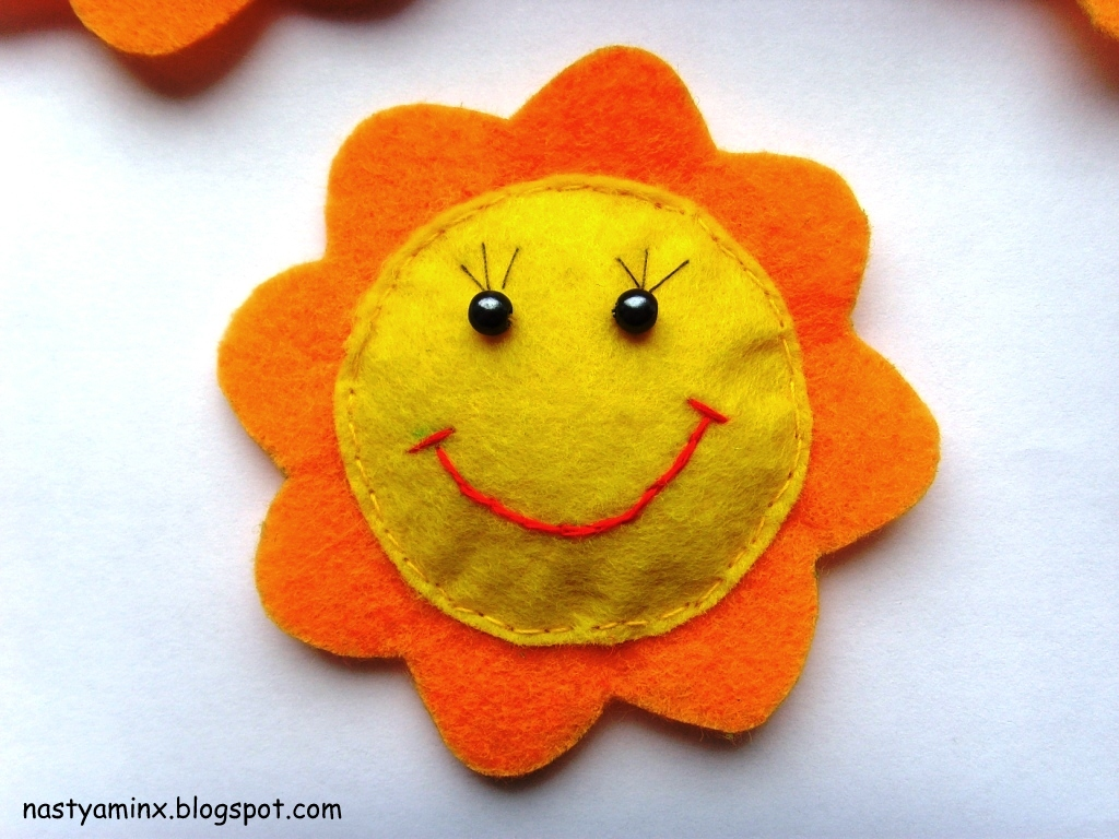 Солнышко из флиса своими руками 57