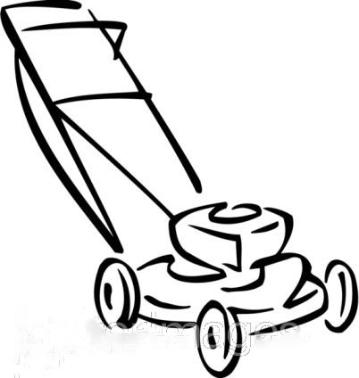 Lawn mower drawing sketch coloring page for Lawn mower coloring page