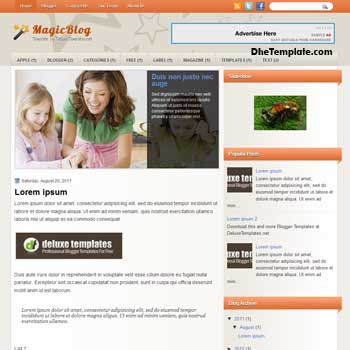 MagicBlog blogger template. template blogspot magazine style