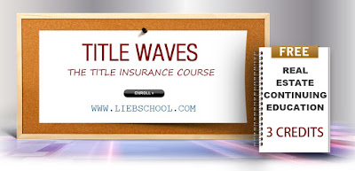 Title Waves - Free Lieb School Continuing Education Class on 6/30/15 at the Omni Building in Uniondale