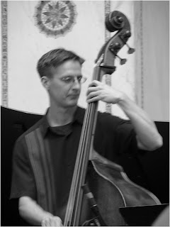 Dan Thatcher - double bass - Beveled - 2015 Chicago Jazz Festival   Photograph by Tom Bowser