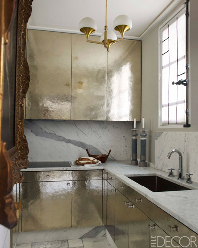 metallic kitchen