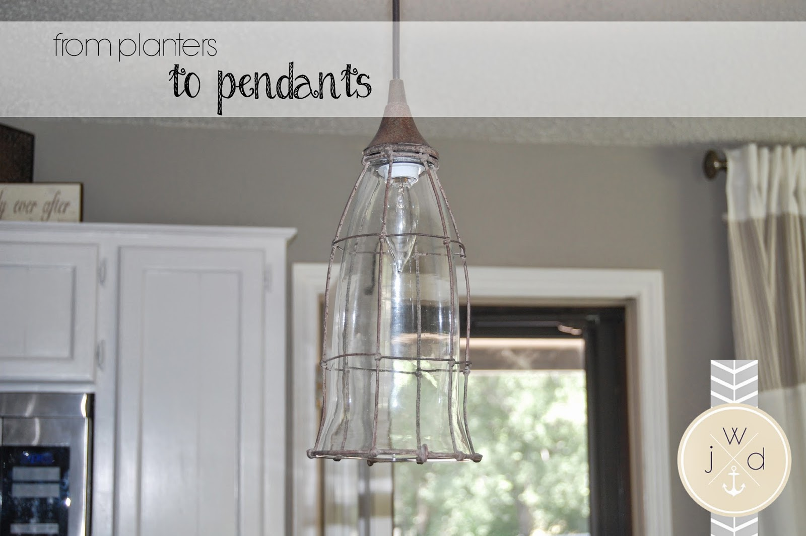 Style with Wisdom Planters to Pendants DIY Farmhouse Style Lighting