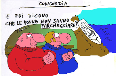 Il Concordia alla deriva - Vignetta Kaos66