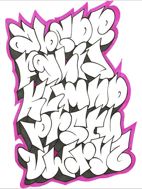 Cool Graffiti Alphabet Letters by GAR One || Graffiti Tutorial