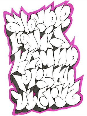 Cool Graffiti Alphabet Letters by GAR One