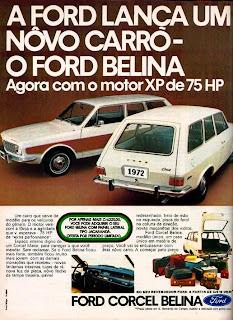 propaganda Ford Corcel Belina - 1971