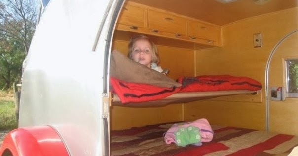 Tiny Yellow Teardrop Teardrop Trailer Camping With Children