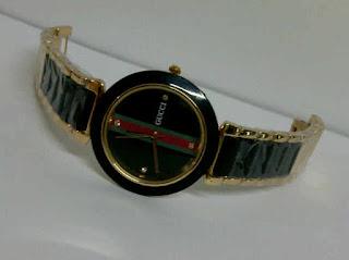 jam tangan gucci keramik hitam