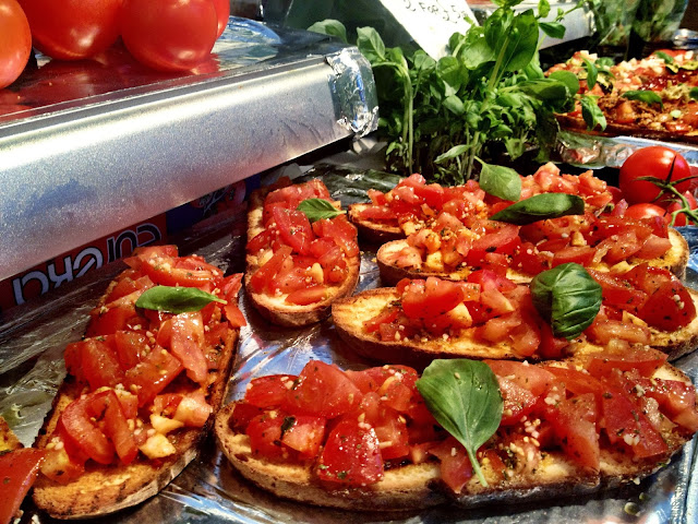 Bruschetta at the Real Food Market