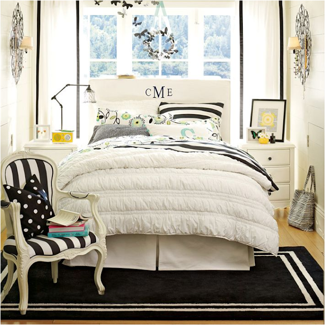 Black and white teen girls bedroom. Key Interiors by Shinay  Not Pink and Beautiful Teen Girl Bedrooms