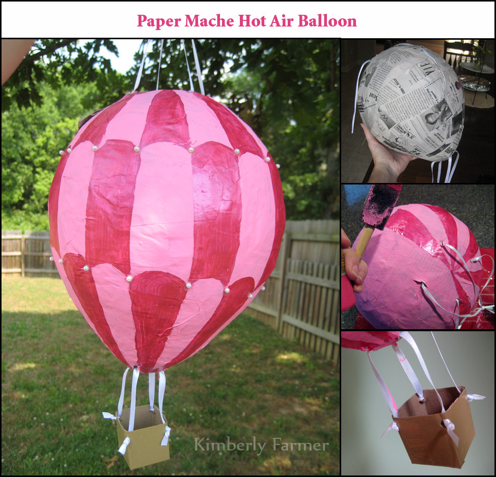 mommyhood craft corner paper mache hot air balloon pi ata