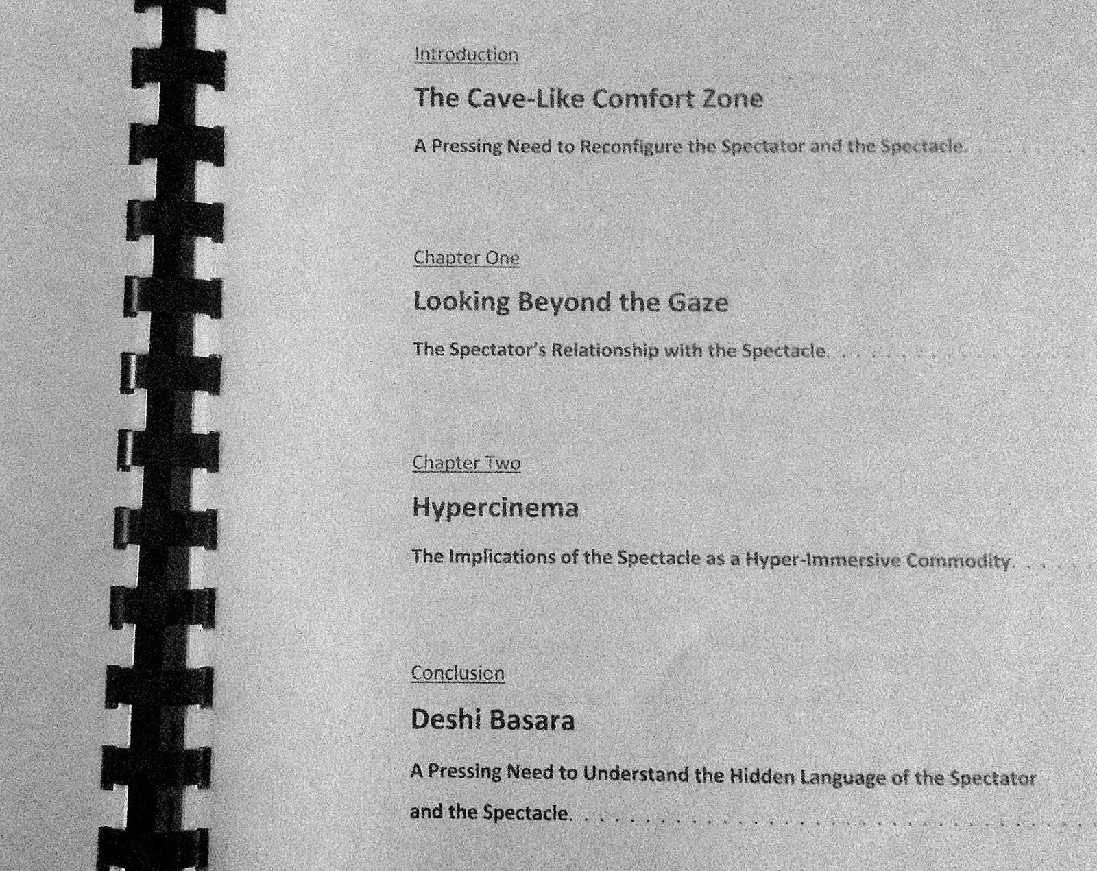 Dissertation marking form