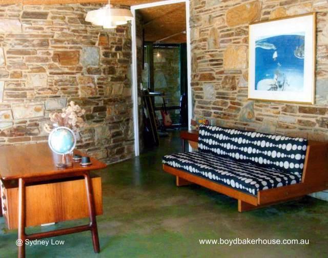 Cuarto en Boyd Baker House casa moderna de piedra australiana