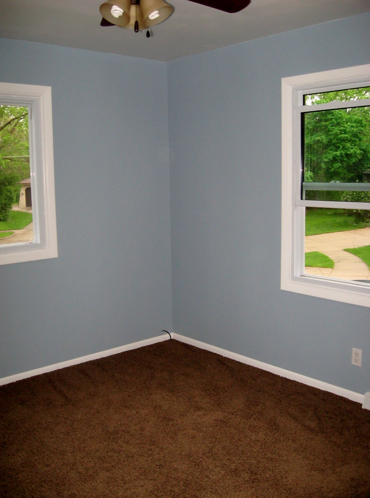 what color carpet goes with light blue walls blue rooms