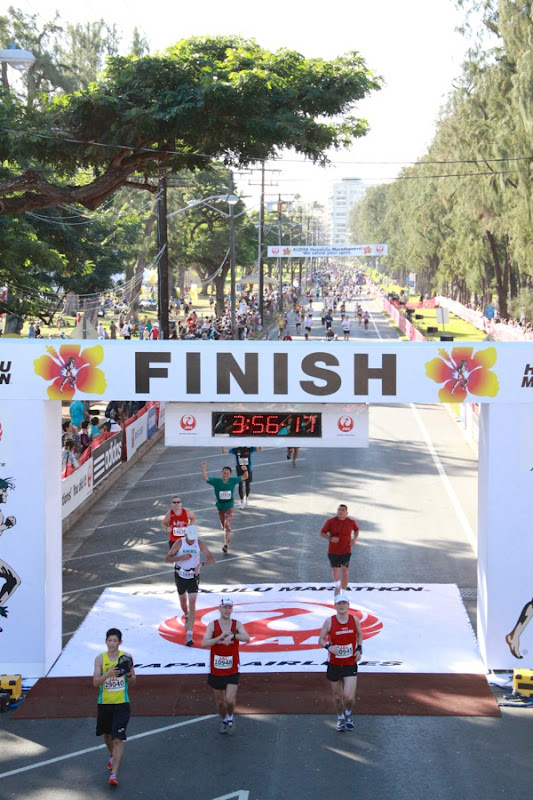 2012 Honolulu Marathon Finish