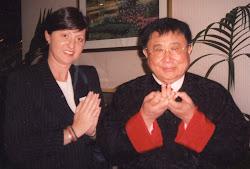 Aurea Balbi com Prof.Lin Yun Rinpoche em Nova York