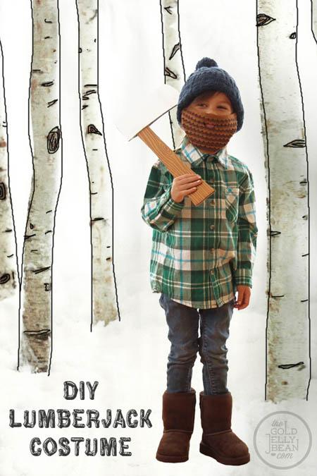 Disfraz leñador diy niños