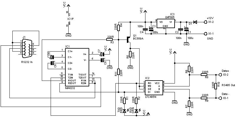 berinovasi dengan elektronika  rangkaian konverter rs232 ke rs485