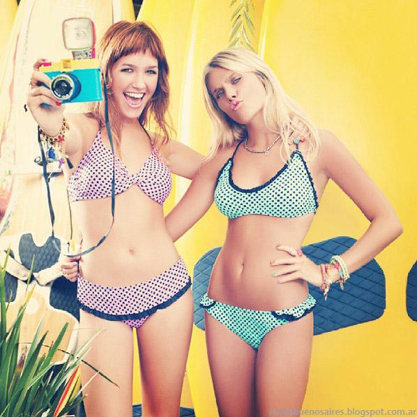 Moda verano 2014. Sweet Victorian bikinis 2014.