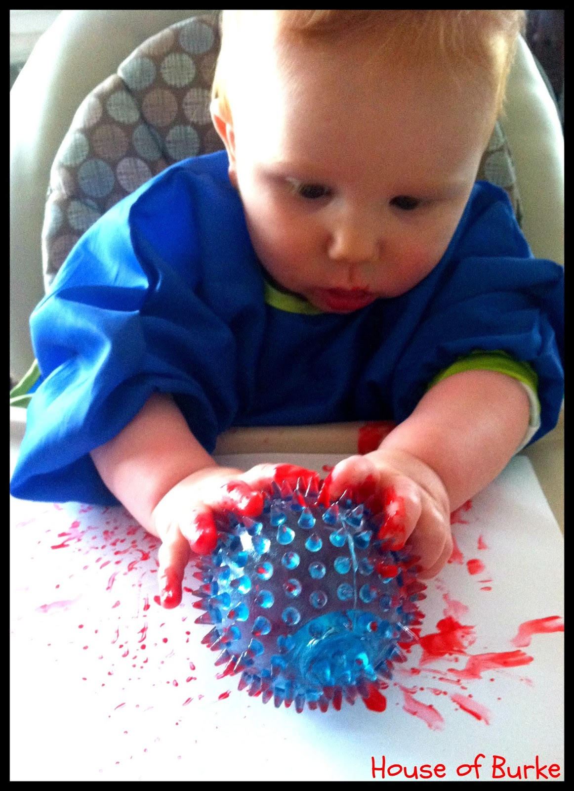 House of burke spiky ball painting for Painting ideas for 4 year olds