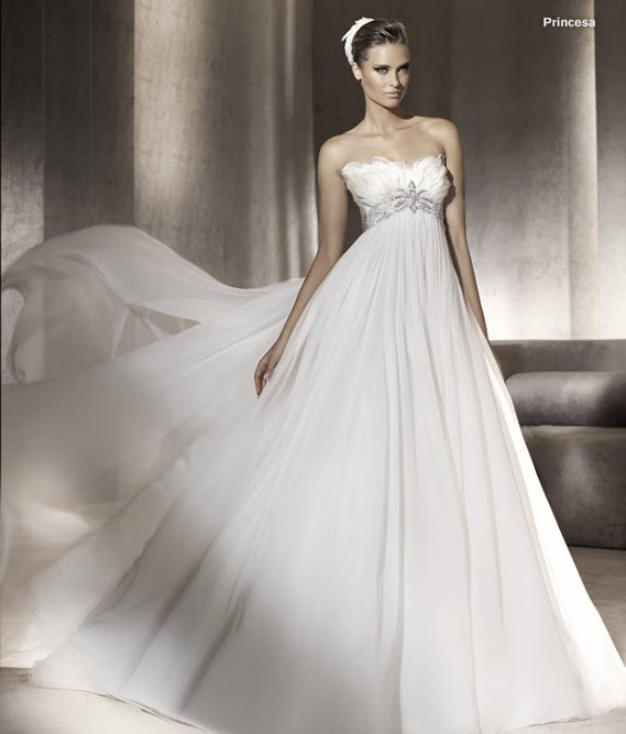 todo sobre bodas: vestido de novia princesa pronovias 2012 manuel mota