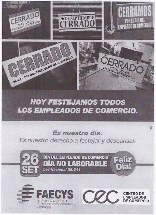 ESPACIO PUBLICITARIO : CENTRO EMPLEADOS DE COMERCIO LEONES