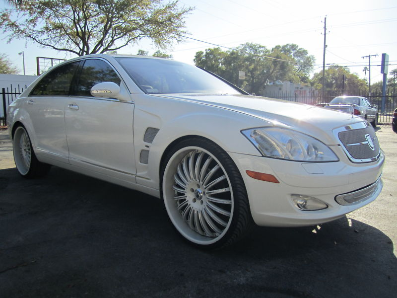 mercedes benz w221 s class on 24 inch asanti rims only