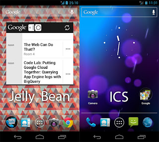 Posible interface de Jelly Bean, Android 4.1, actualización Nexus