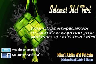 Ucapan Selamat Hari Raya Idul Fitri 2013 , 1434 H
