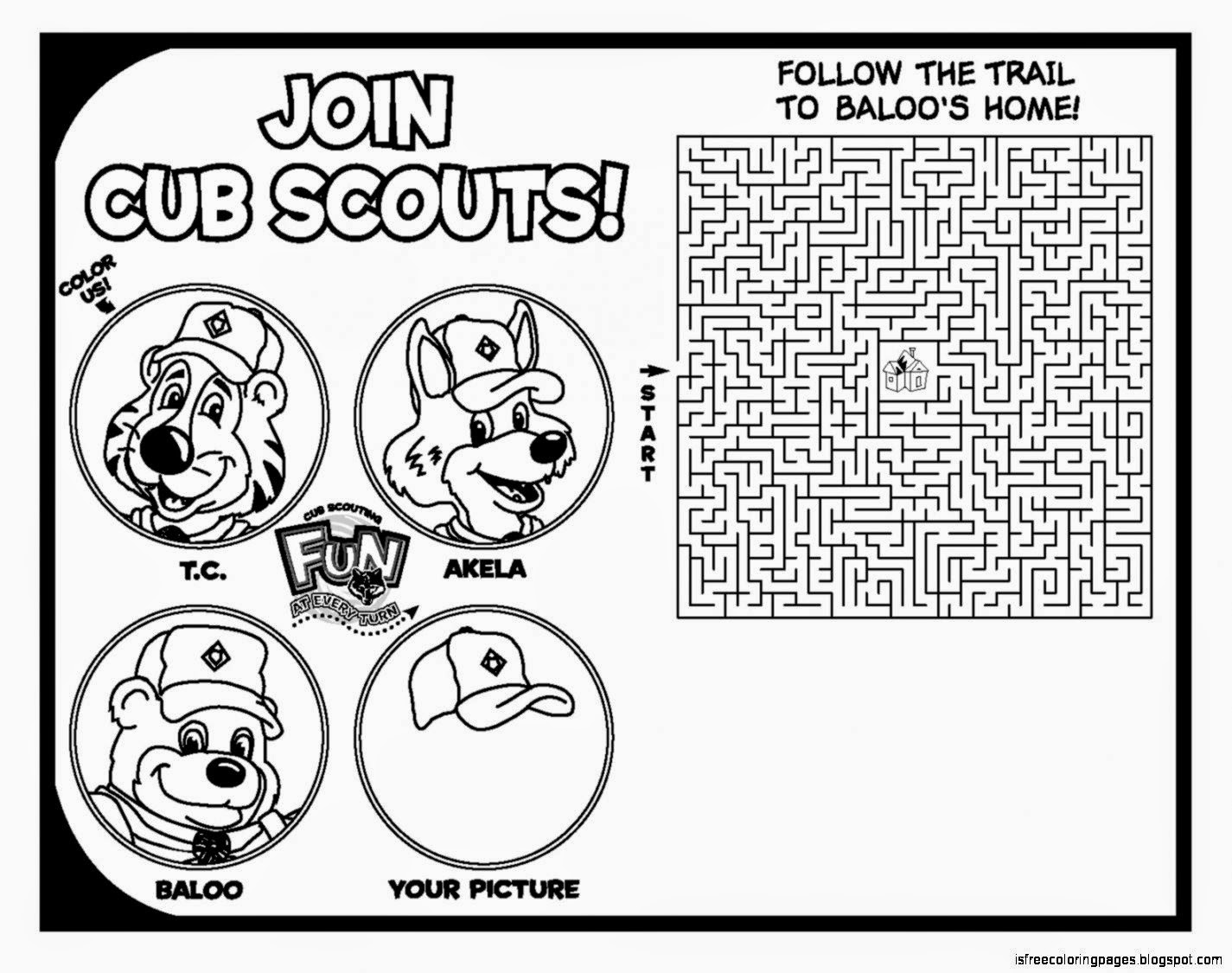 Scouting Coloring Pages | Free Coloring Pages