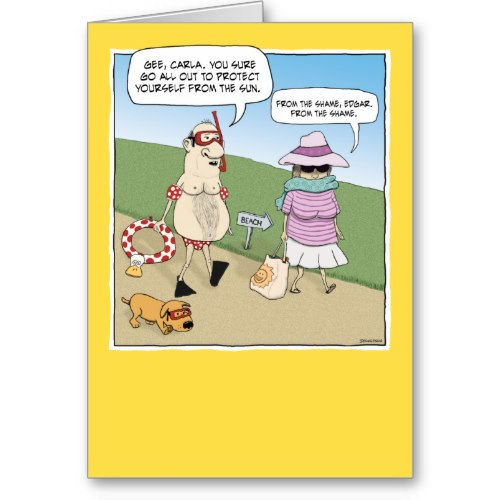 From the Sun, From the Shame | Funny Cartoon Anniversary Card