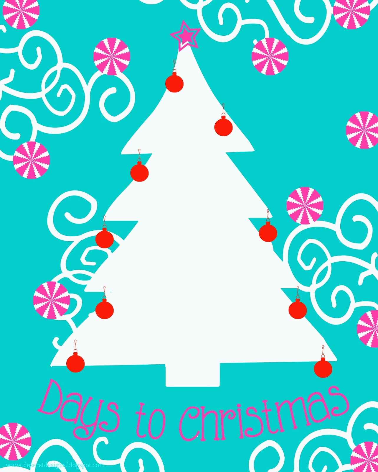 Deseret Designs Days To Christmas Free Countdown Printables